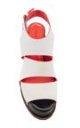 White Leather Platform Sandals by PROENZA SCHOULER for Preorder on Moda Operandi
