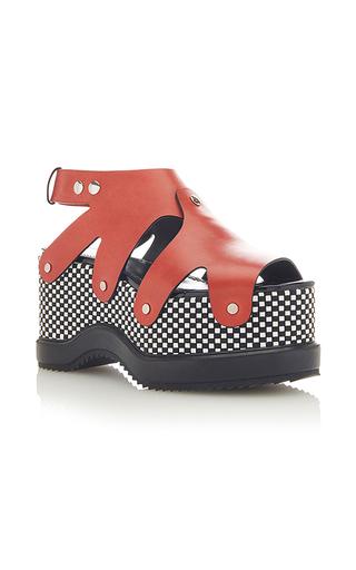 Medium proenza schouler red leather platform sandals 2