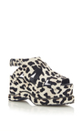 Pony Hair Platform Sandals by PROENZA SCHOULER for Preorder on Moda Operandi