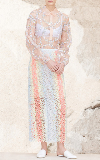 Selene Organza Blouse by GABRIELA HEARST for Preorder on Moda Operandi