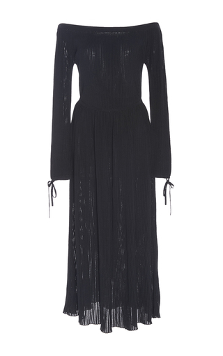 Medium gabriela hearst black suzsanna off the shoulder dress