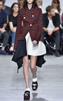 Pleated Crepe Color Blocked Asymmetrical Skirt by PROENZA SCHOULER for Preorder on Moda Operandi