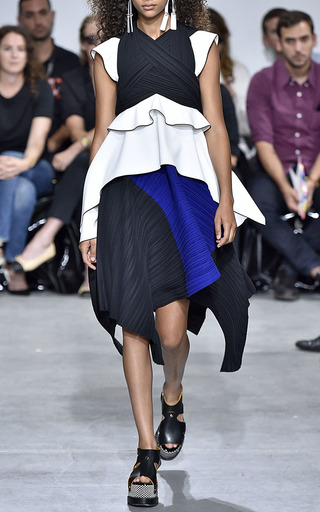 Pleated Crepe Cap Sleeve Top by PROENZA SCHOULER for Preorder on Moda Operandi