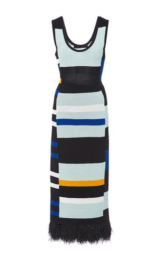 Medium proenza schouler multi striped crochet tank dress
