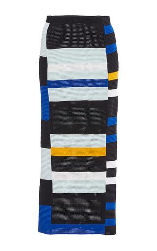 Medium proenza schouler multi striped crochet pencil skirt