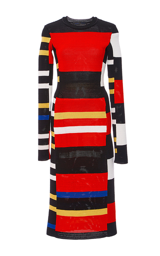 Medium proenza schouler multi long sleeve knit dress