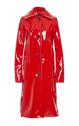 Single Breasted Patent Leather Coat by PROENZA SCHOULER for Preorder on Moda Operandi
