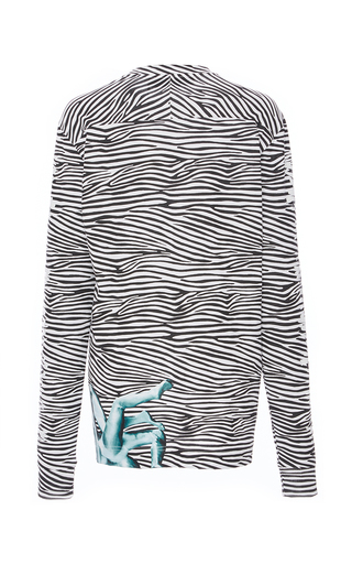Printed Cotton Jersey Long Sleeve Top by PROENZA SCHOULER for Preorder on Moda Operandi
