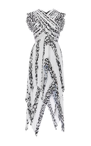 Medium proenza schouler print cap sleeve pleated dress