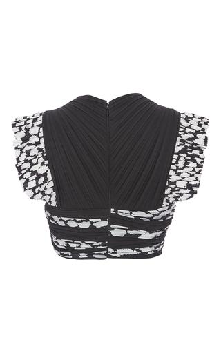 Cap Sleeve Pleated Crop Top by PROENZA SCHOULER for Preorder on Moda Operandi