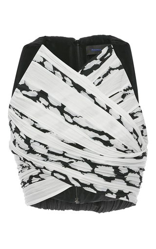 Medium proenza schouler print sleeveless pleated crop top 2