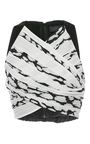 Sleeveless Pleated Crop  Top by PROENZA SCHOULER for Preorder on Moda Operandi