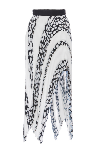 Arched Asymmetrical Hem Pleated Skirt by PROENZA SCHOULER for Preorder on Moda Operandi