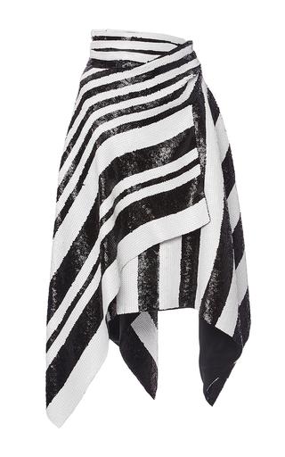 Striped Sequin Asymmetrical Wrap Skirt by PROENZA SCHOULER for Preorder on Moda Operandi