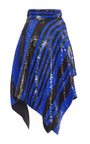 Striped Sequin Asymmetrical Wrap Skirt by PROENZA SCHOULER for Preorder on Moda Operandi