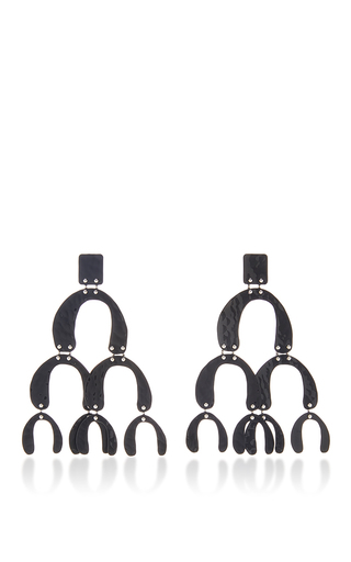 Medium proenza schouler black large earrings in black