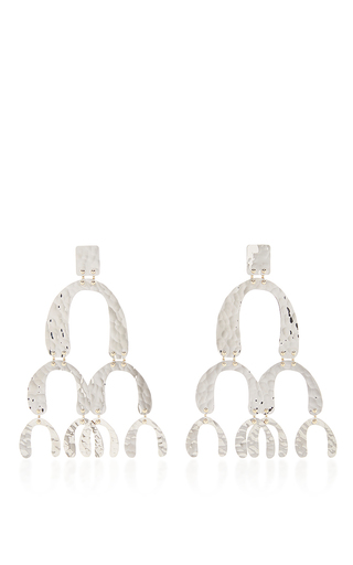 Medium proenza schouler silver large earrings in silver
