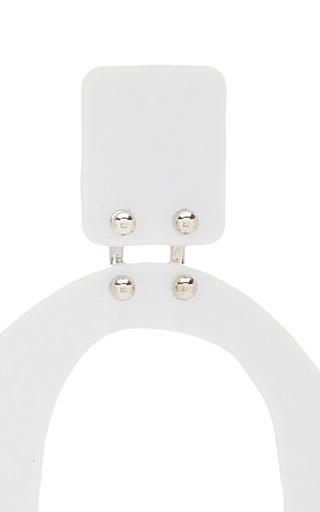 Small Earrings In White by PROENZA SCHOULER for Preorder on Moda Operandi