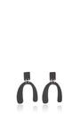 Small Earrings In Black by PROENZA SCHOULER for Preorder on Moda Operandi