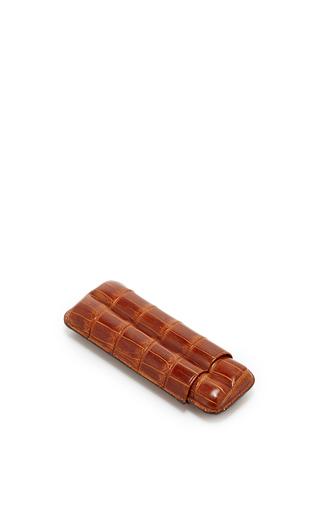 Medium pinel et pinel brown pinel et pinel cognac crocodile cigar case