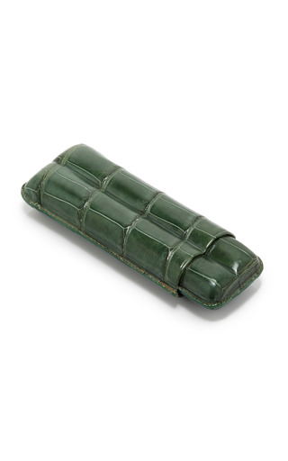 Medium pinel et pinel green pinel et pinel green crocodile cigar case
