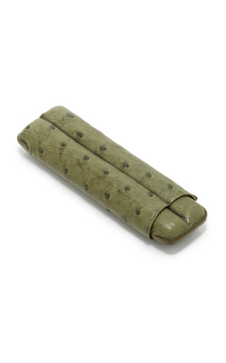Medium pinel et pinel green pinel et pinel green ostrich cigar case