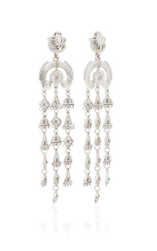 Ornate Charm Chandelier C Earring In Silver by OSCAR DE LA RENTA for Preorder on Moda Operandi