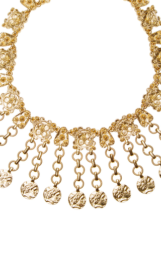 Charm Coin Necklace by OSCAR DE LA RENTA for Preorder on Moda Operandi