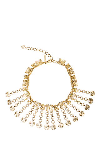 Medium oscar de la renta gold charm coin necklace