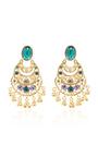 Crystal Filigree C Earring by OSCAR DE LA RENTA for Preorder on Moda Operandi