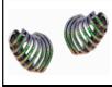 Medium lynn ban jewelry multi ombre rainbow pave sonic ear cuffs