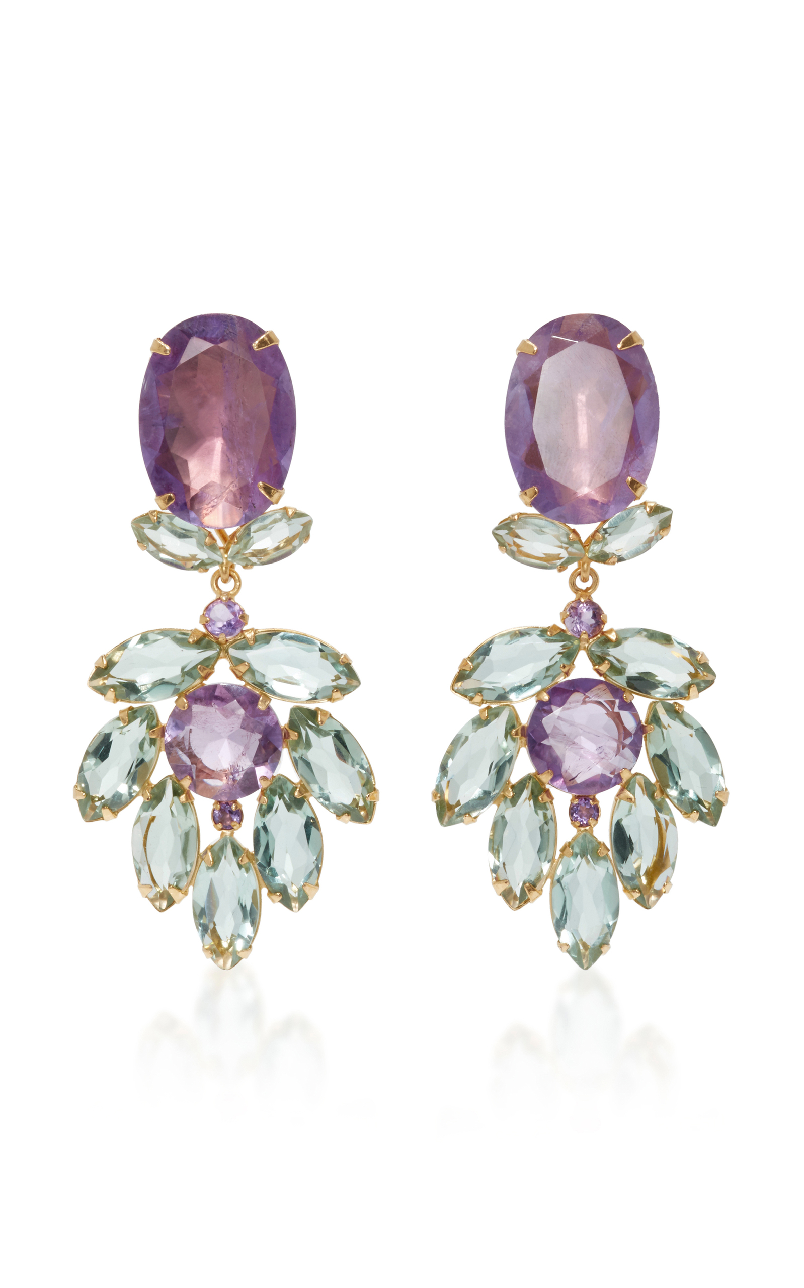 two earrings amethyst two way earrings by bounkit moda operandi 6455