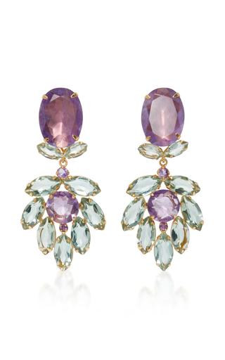 Medium bounkit purple amethyst two way earrings