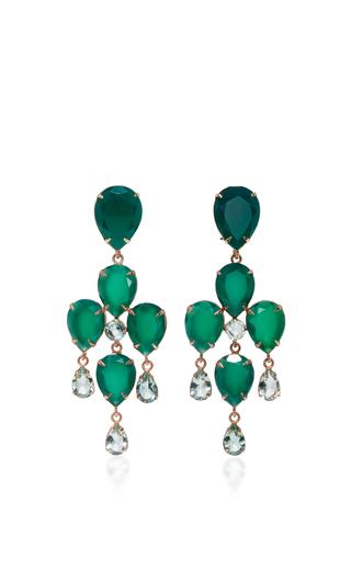 Medium bounkit green green onyx and amethyst two way earrings