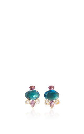 Medium bounkit blue london blue quartz and amethyst earrings