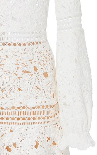 Long Sleeve Tiered Dress by OSCAR DE LA RENTA for Preorder on Moda Operandi