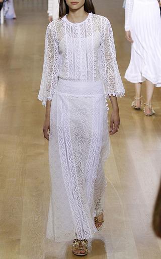 Floor Length Trim Detailed Skirt by OSCAR DE LA RENTA for Preorder on Moda Operandi