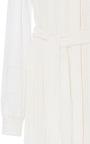 Long Sleeve Mandarin Collar Dress by OSCAR DE LA RENTA for Preorder on Moda Operandi