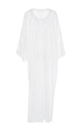 Long Sleeve Drop Shoulder Caftan by OSCAR DE LA RENTA for Preorder on Moda Operandi
