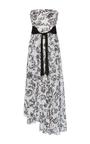 Strapless Asymmetrical Hem Gown by OSCAR DE LA RENTA for Preorder on Moda Operandi