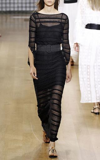 Floor Length Fish Tail Striped Skirt by OSCAR DE LA RENTA for Preorder on Moda Operandi
