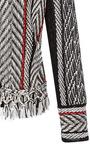 Three Quarter Sleeve Fringe Jacket by OSCAR DE LA RENTA for Preorder on Moda Operandi