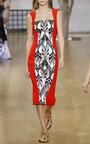 Sleeveless Square Neck Pencil Dress by OSCAR DE LA RENTA for Preorder on Moda Operandi