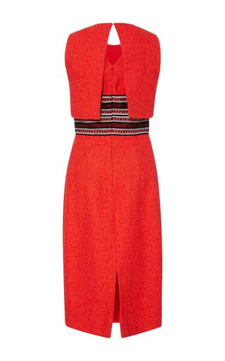 Sleeveless Jewel Neck Trompe L'oeuil Pencil Dress by OSCAR DE LA RENTA for Preorder on Moda Operandi
