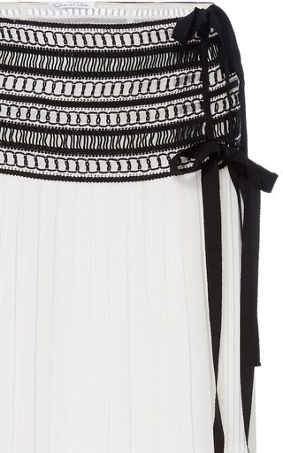 Tea Length Column Skirt With Side Split by OSCAR DE LA RENTA for Preorder on Moda Operandi