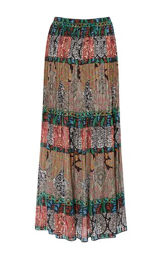 Tea Length Pleated Skirt by OSCAR DE LA RENTA for Preorder on Moda Operandi