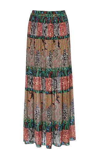 Medium oscar de la renta multi tea length pleated skirt 2