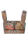 Sleeveless Square Neck Cropped Top by OSCAR DE LA RENTA for Preorder on Moda Operandi