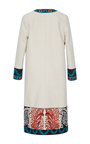 Long Sleeve Jewel Neck Embroidered Paisley Coat by OSCAR DE LA RENTA for Preorder on Moda Operandi