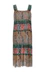 Square Neck Paisley Knee Length Dress by OSCAR DE LA RENTA for Preorder on Moda Operandi